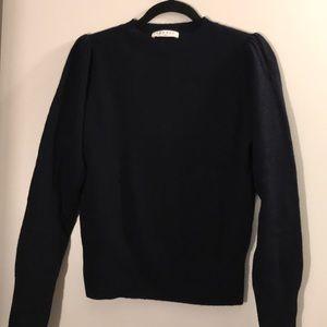 Sandro Paris Navy Blue Women's Sweater Sz 44